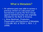what is metadata9