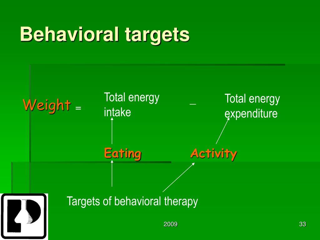 Behavioral targets
