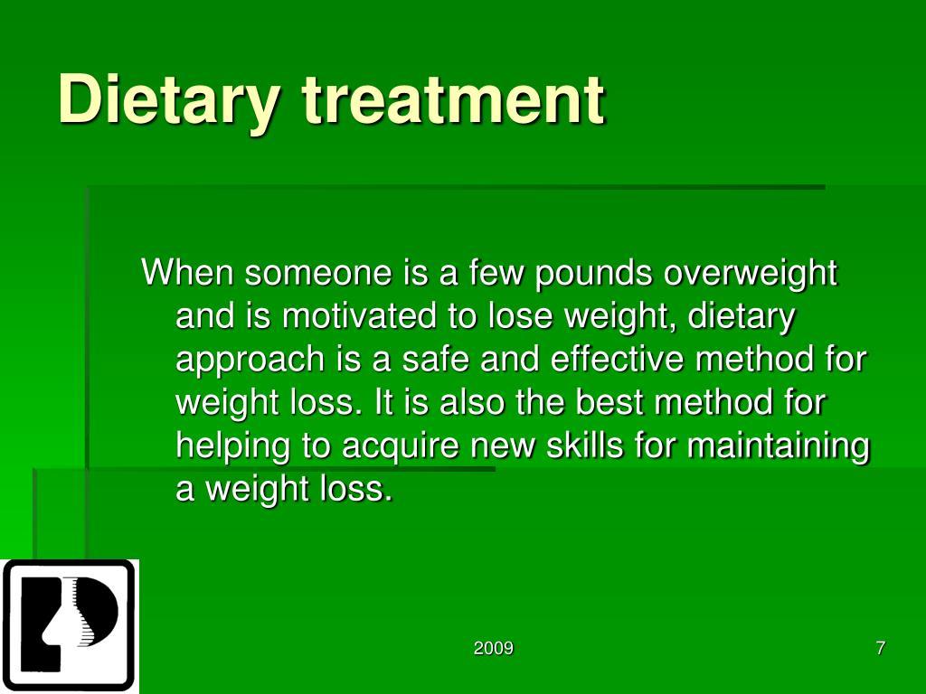 Dietary treatment