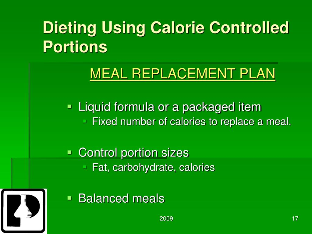 Dieting Using Calorie Controlled Portions