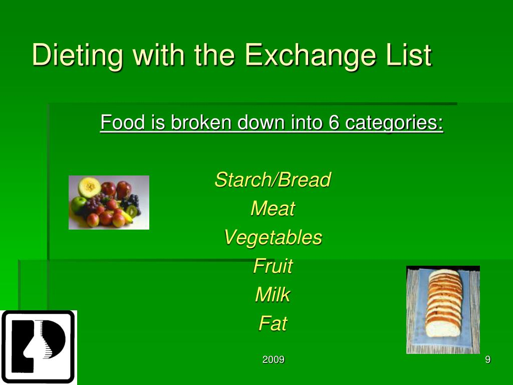 Dieting with the Exchange List