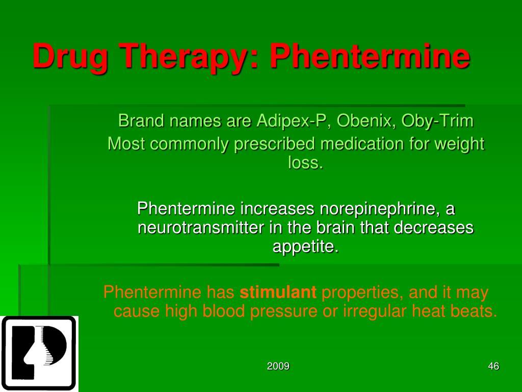 Drug Therapy: Phentermine