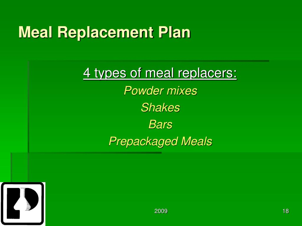 Meal Replacement Plan