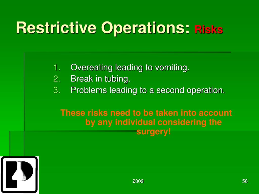 Restrictive Operations: