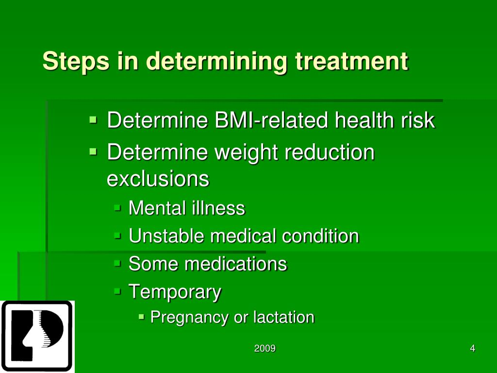 Steps in determining treatment