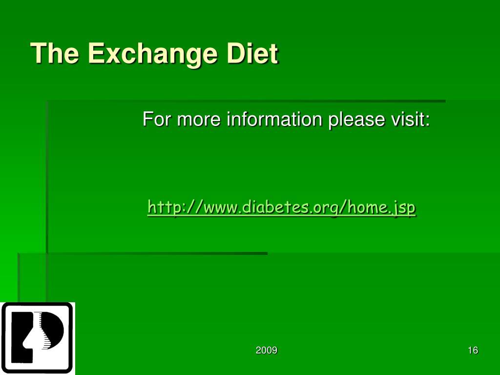 The Exchange Diet