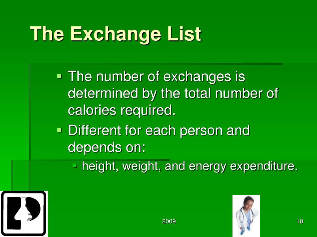 The Exchange List