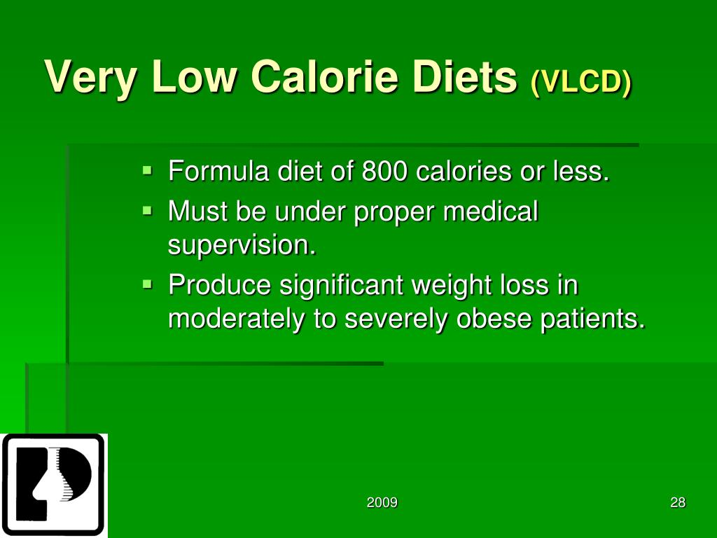 Very Low Calorie Diets