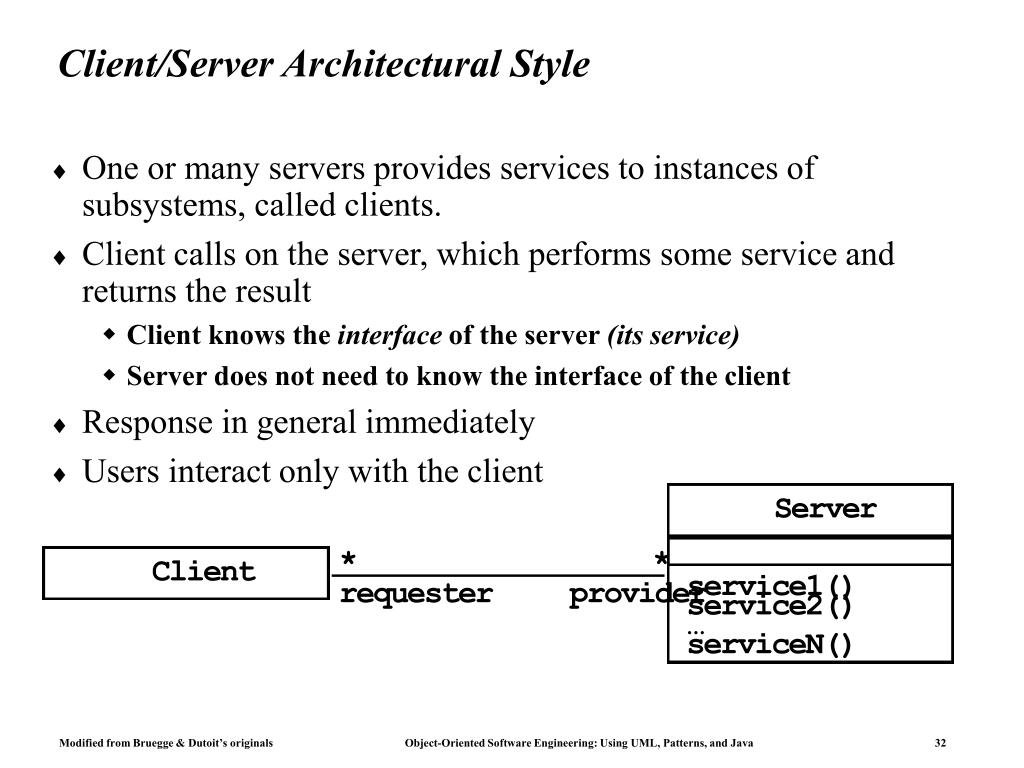 Client/Server Architectural Style