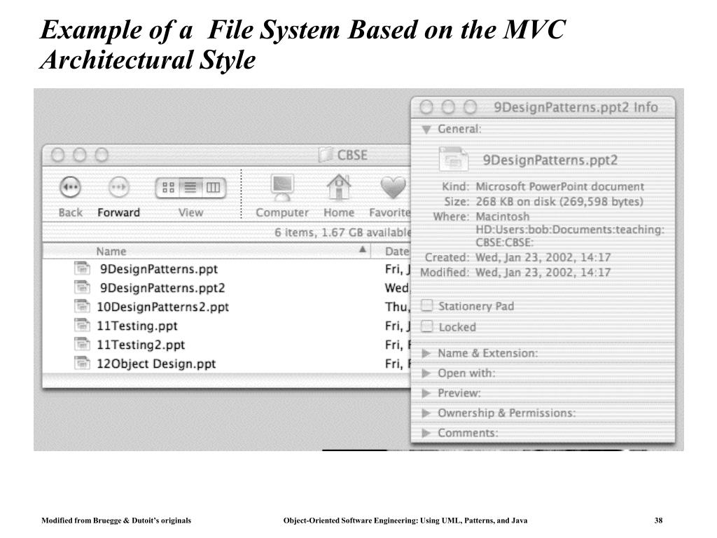 Example of a  File System Based on the MVC Architectural Style