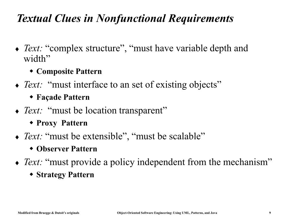 Textual Clues in Nonfunctional Requirements