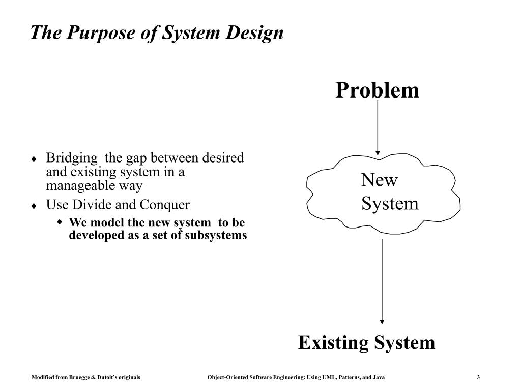 The Purpose of System Design