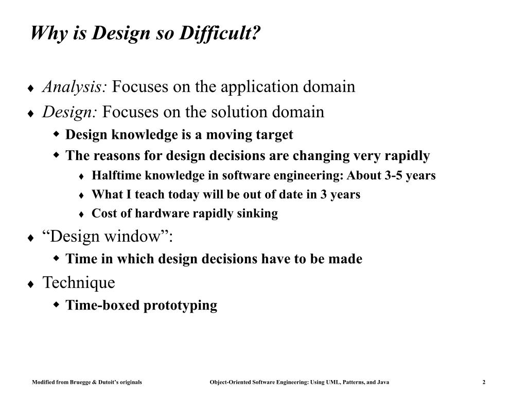 Why is Design so Difficult?