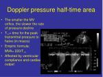 doppler pressure half time area