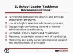 il school leader taskforce recommendations