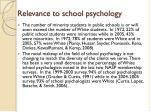 relevance to school psychology