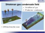 shtokman gas condensate field