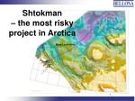 shtokman the most risky project in arctica nina lesikhina