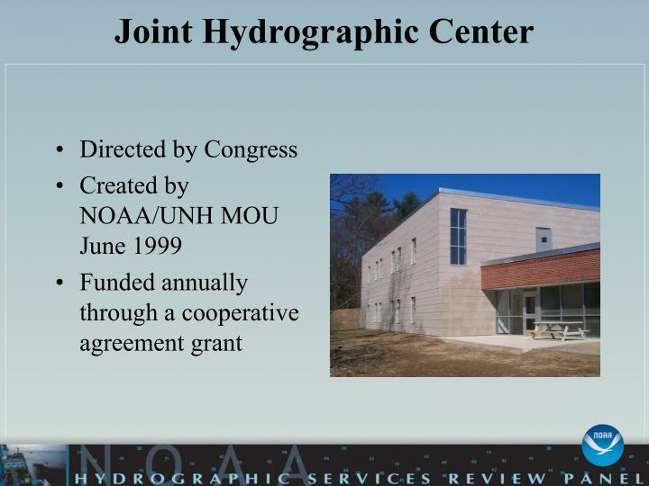 Joint hydrographic center