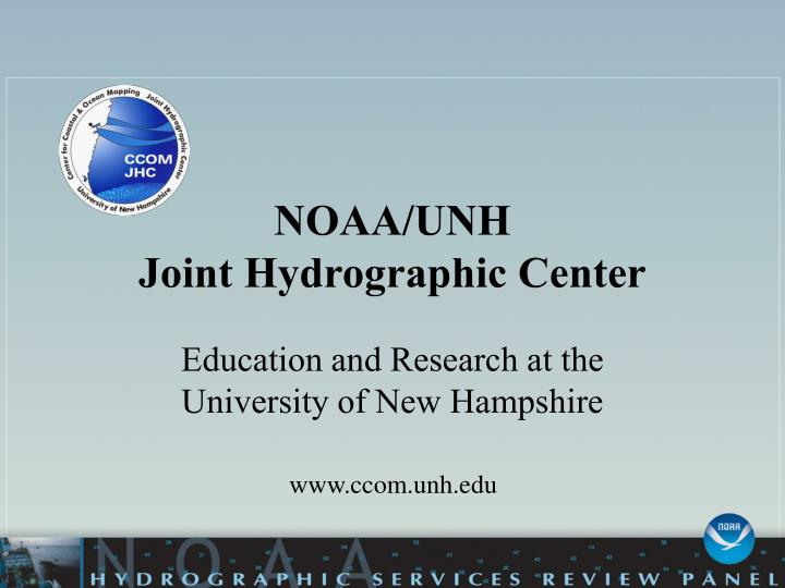 Noaa unh joint hydrographic center
