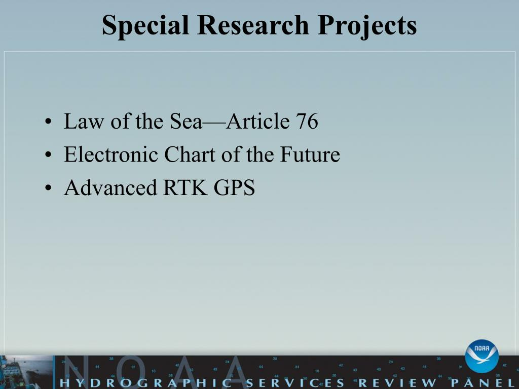 Special Research Projects