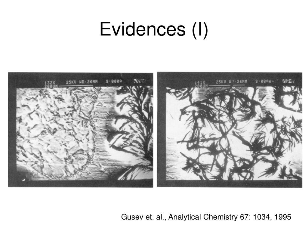 Evidences (I)