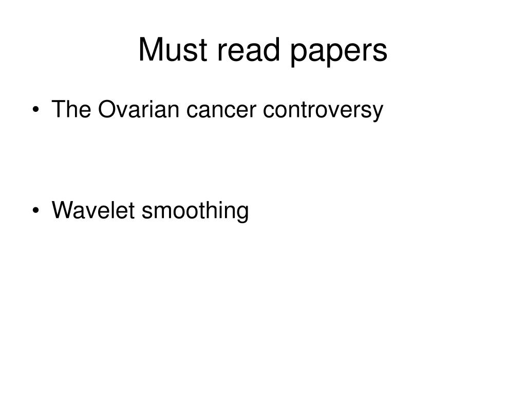 Must read papers