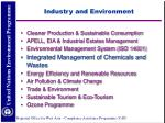 industry and environment