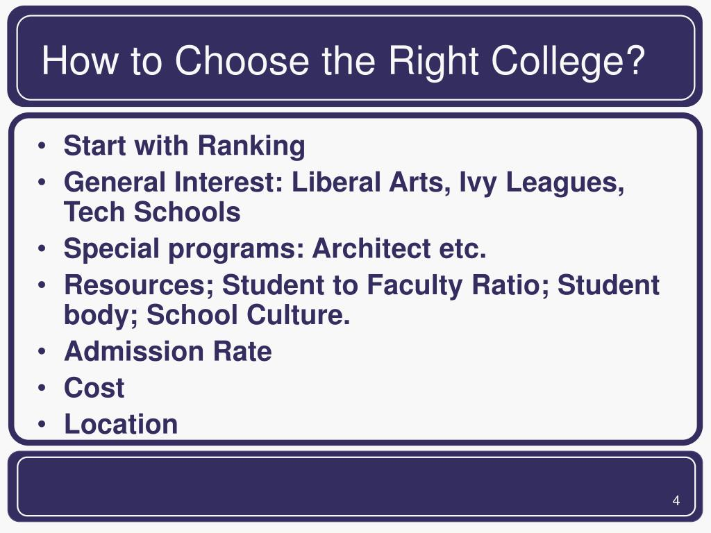 How to Choose the Right College?