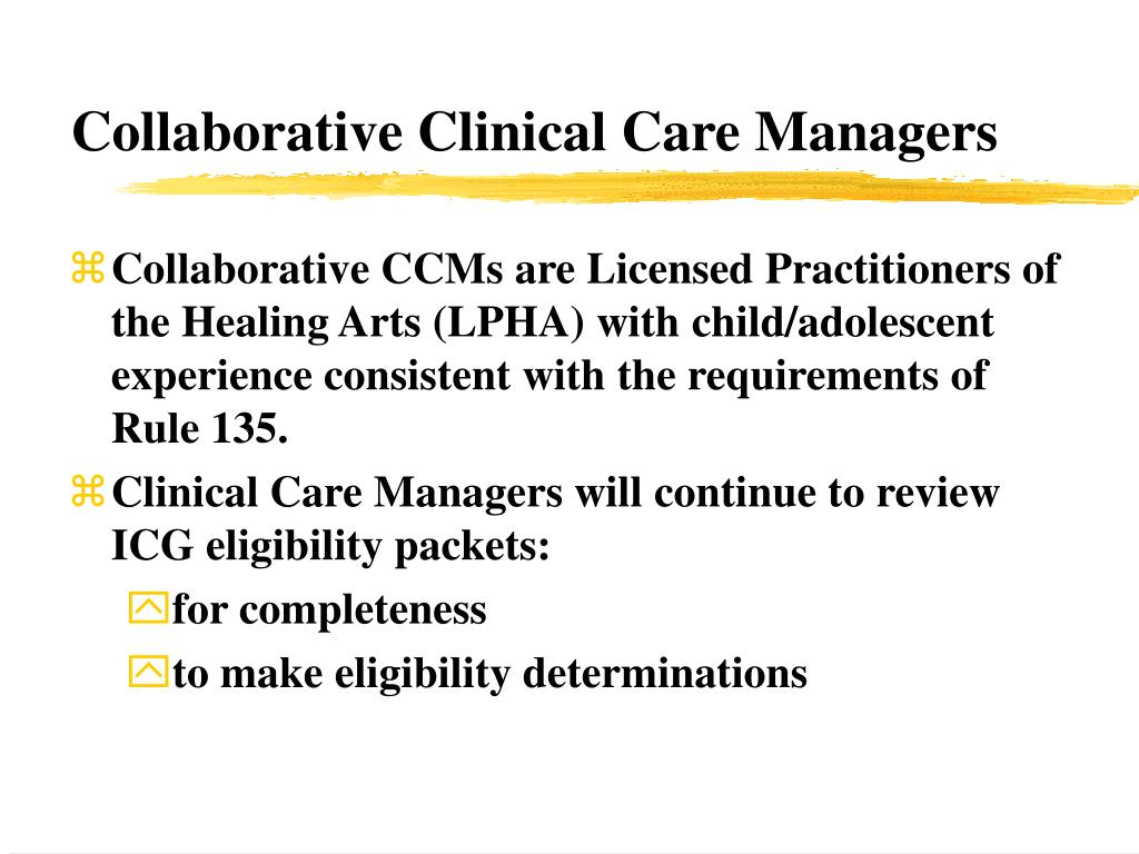 Collaborative Clinical Care Managers