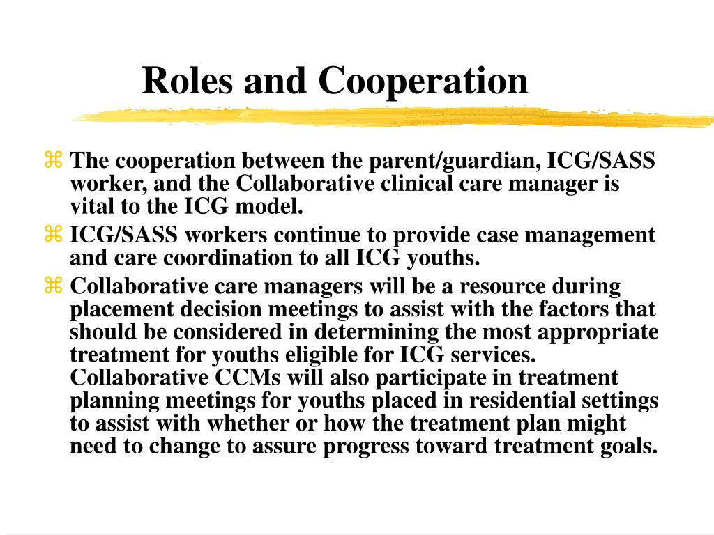 Roles and Cooperation