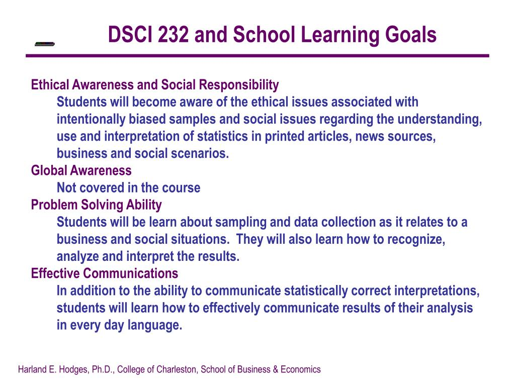 DSCI 232 and School Learning Goals