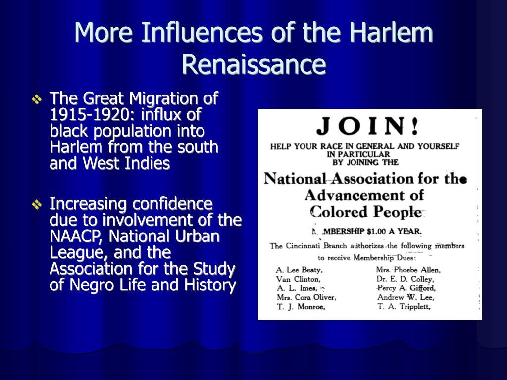 More Influences of the Harlem Renaissance