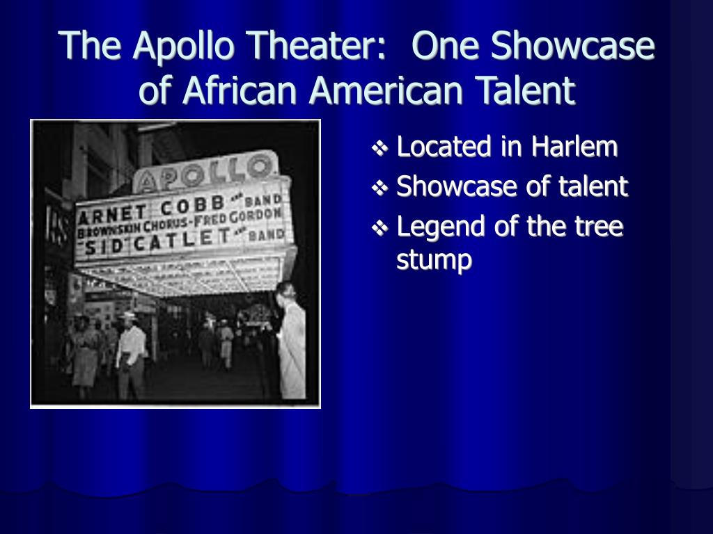The Apollo Theater:  One Showcase of African American Talent