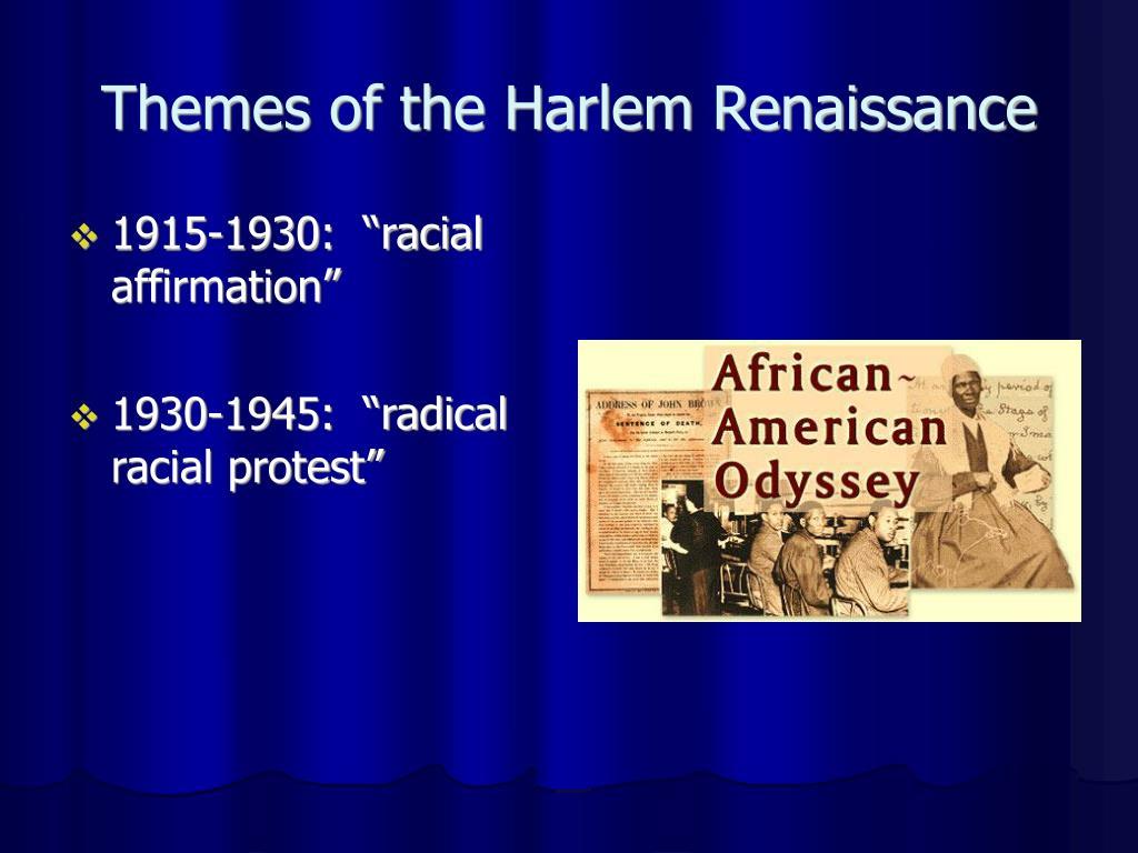 Themes of the Harlem Renaissance