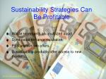 sustainability strategies can be profitable