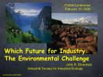 which future for industry the environmental challenge