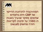 gmp 1980 recall