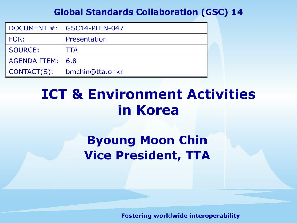 ict environment activities in korea l.
