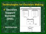 technologies for decision making