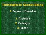 technologies for decision making10