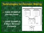 technologies for decision making4
