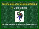 technologies for decision making5