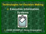technologies for decision making6