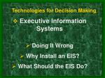 technologies for decision making7
