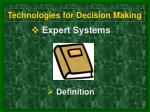 technologies for decision making8