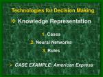 technologies for decision making9