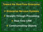 toward the real time enterprise12