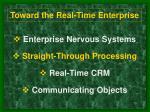 toward the real time enterprise13