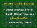 toward the real time enterprise14